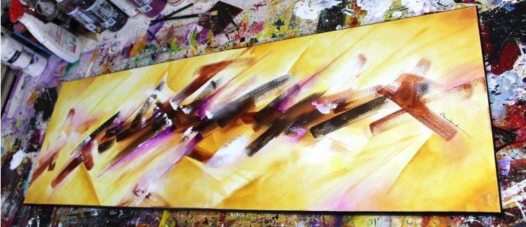 Comment faire une peinture abstraite marron - Comment faire de la peinture marron ...