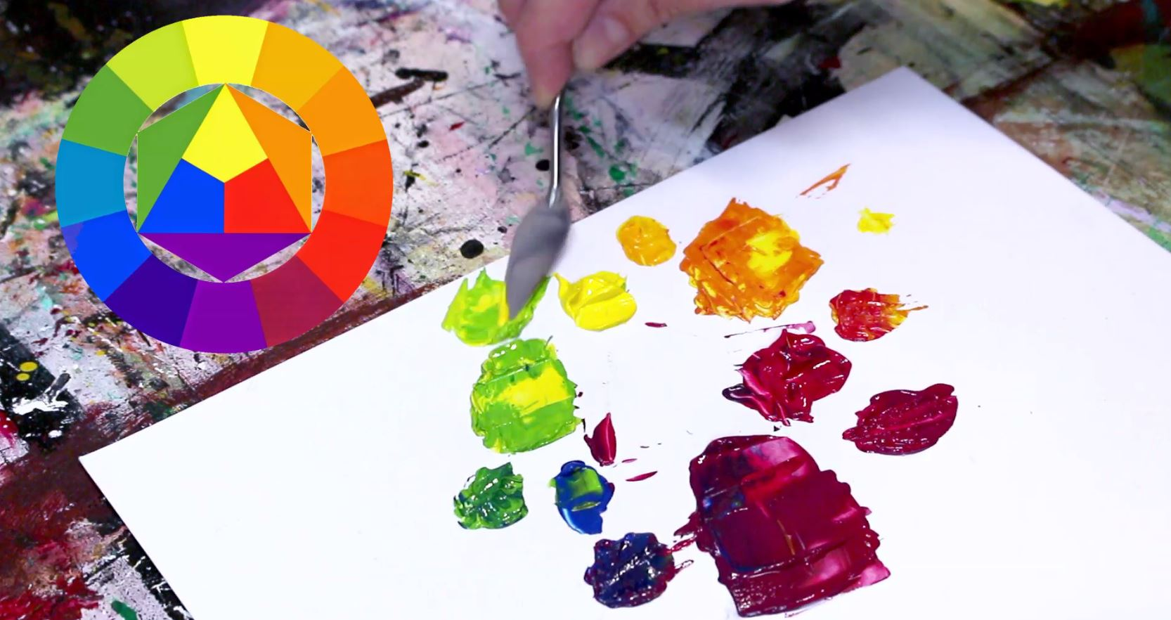 Melange Peinture Acrylique Apprendre A Melanger Les Couleurs