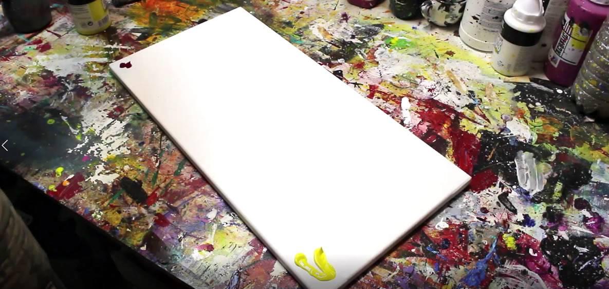 dégradé mettre la peinture