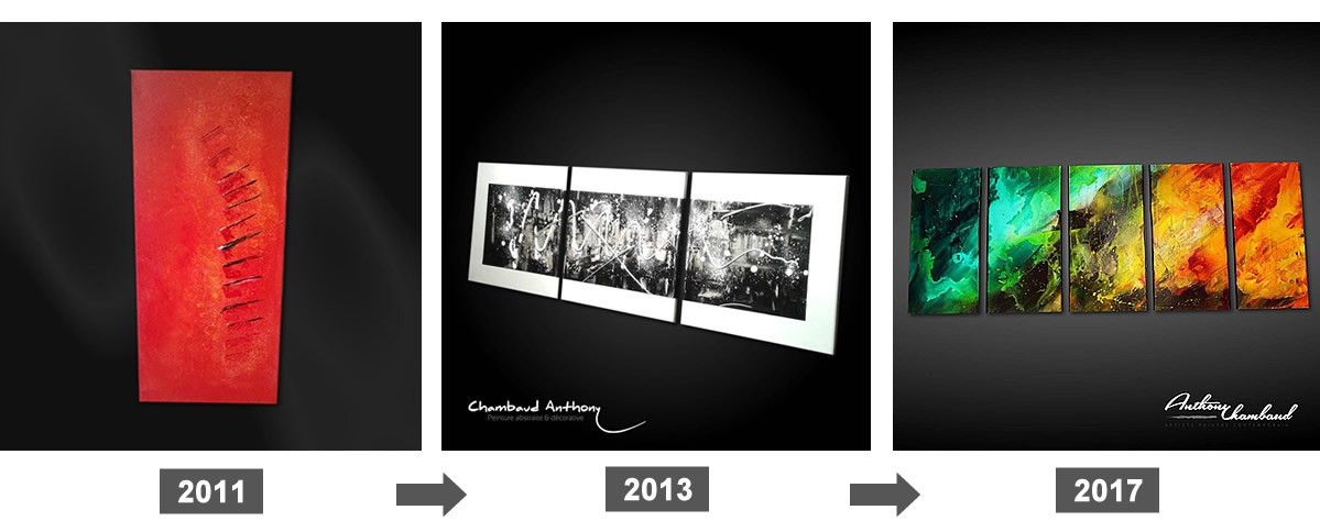 Peinture abstraite mon évolution depuis 2011