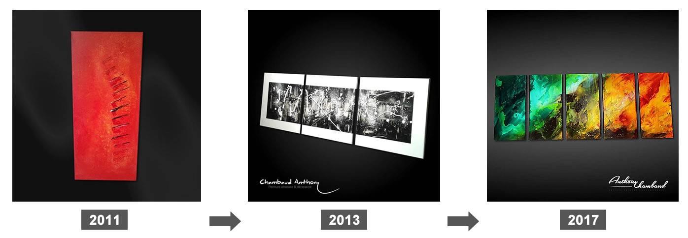 Mon évolution dans la peinture abstraite depuis 2011
