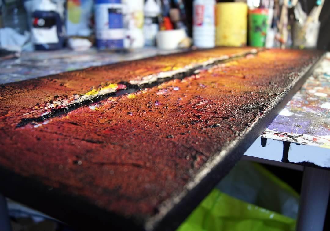 Comment faire des textures - Peinture acrylique
