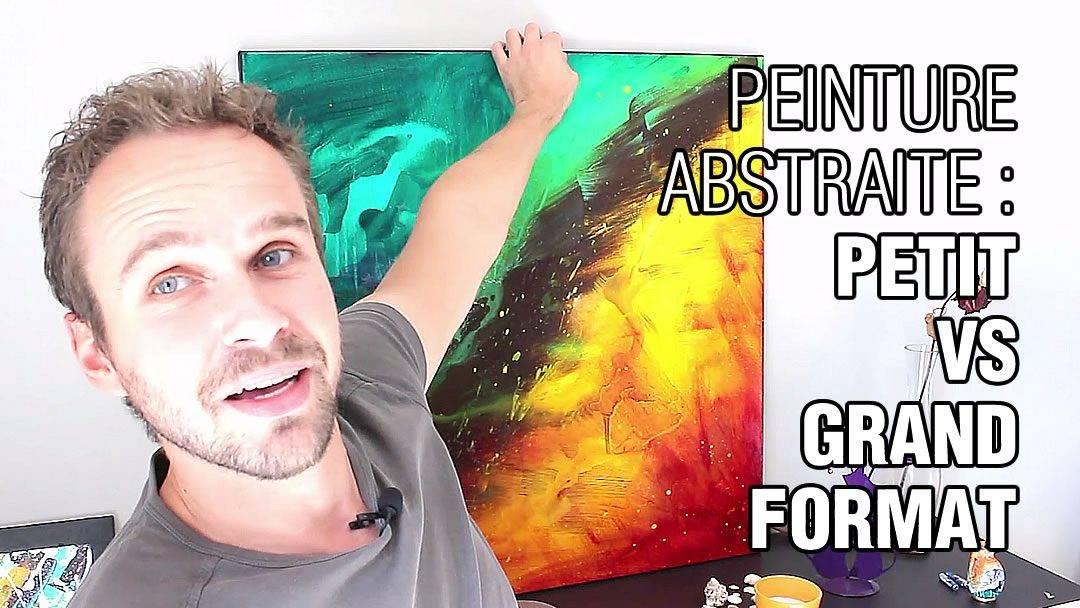 Apprendre la peinture acrylique d monstration de peinture abstraite - Quel marque de peinture choisir ...