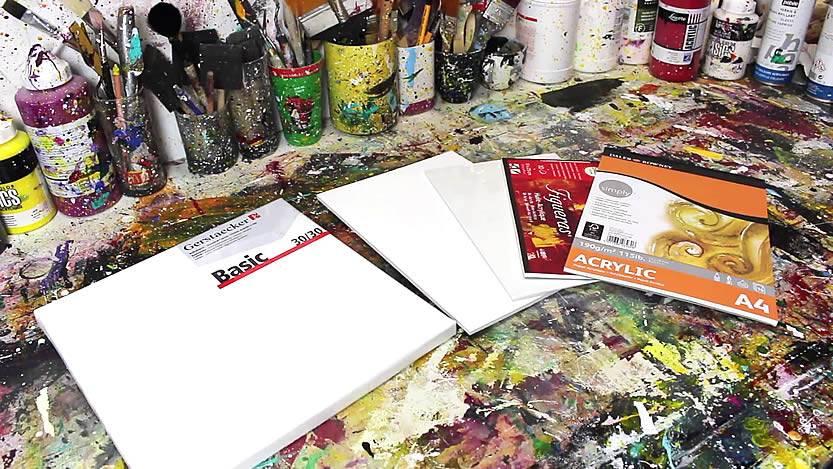 peinture acrylique supports