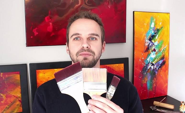 Spalter technique pour la peinture abstraite acrylique