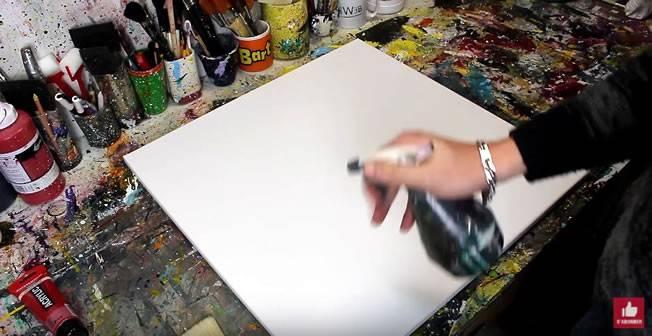 etape 1 spray premiere couche du tableau