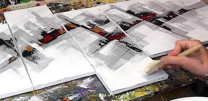 Tuto cours de peinture abstraite n 3 - Peinture effet profondeur ...