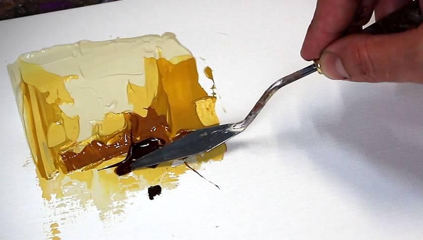 Comment Faire De La Peinture Au Couteau Technique Des Empâtements