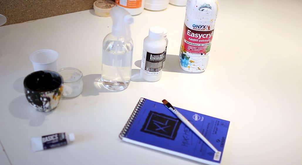 Peinture Acrylique Eau Medium Diluant Retardateur