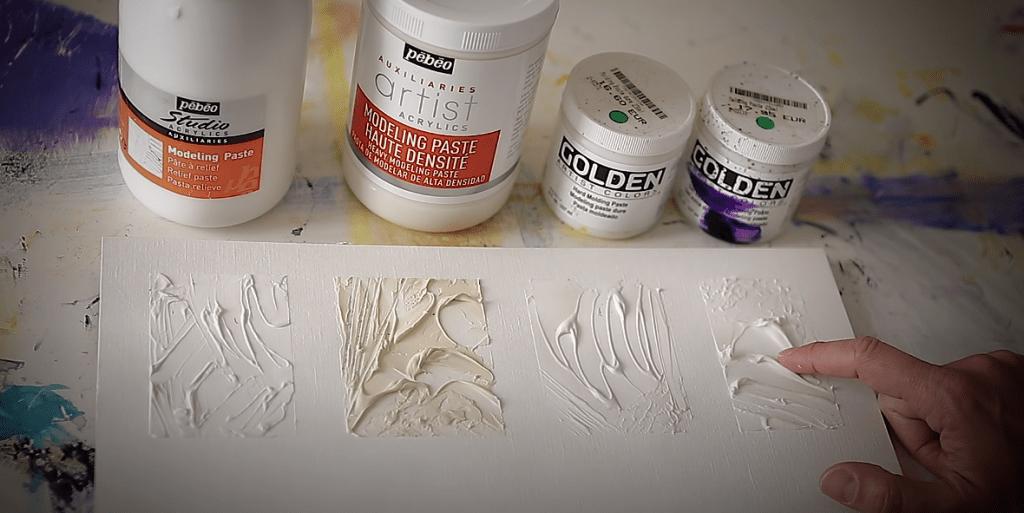 Comparatif modeling paste