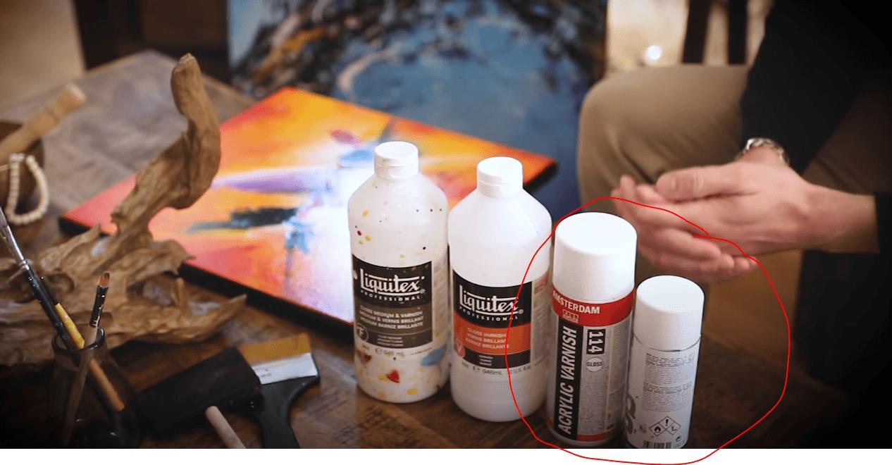 vernis peinture acrylique en spray / aérosol